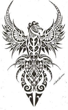 Afbeeldingsresultaat voor tattoo maori phoenix