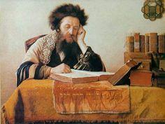 Rabbi reading the Talmud, 1925. Isidor Kaufmann (Austrian, 1853-1921)