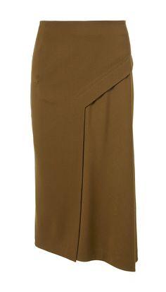 TIBI Viscose Twill Draped Skirt. #tibi #cloth #