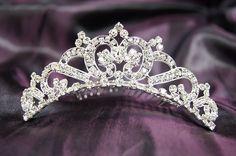 Bridal Wedding Tiara Comb with Crystal C15723 ** For more information, visit image link.