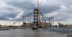 Lo scheletro metallico delle strutture del Padiglione Zero (luglio 2014) #Expo2015 #Milan #WorldsFair