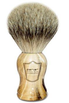 Parker Safety Razor Silvertip Badger Bristle Shaving Brush with Faux Petrified Wood Handle & Free Brush Stand Badger Shaving Brush, Shaving Razor, Wet Shaving, Straight Blade Razor, West Coast Shaving, Classic Shaving, Shaving Supplies, Best Shave