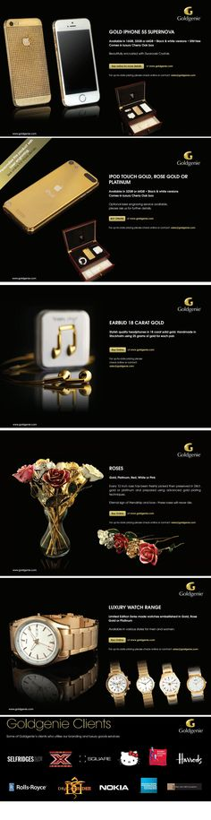 #Luxury brand specialise in gold plating & customising/personalising #iPhones, gold watches, #iPads, iPods, BlackBerrys, roses. http://www.goldgenie.com/luxury-gifts.php