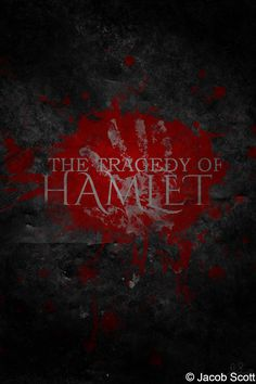 Hamlet - This is one of two posters that I designed for a project in my senior English class at Fort Gibson High School.