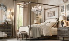 Rooms | Restoration Hardware This bed is amazing!!!! Not sure my room is big enough for it...