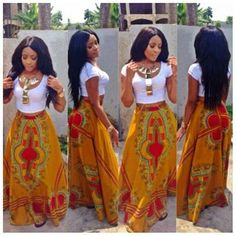 so little known fact about me is that  I LOVE African or Indian prints paired with American styles.  this is soooo hot.