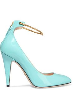Gucci - Patent-leather Pumps - Turquoise - IT38.5