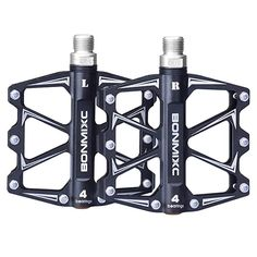 Bike Pedals - Bonmixc Mountain Bike Pedals 916 Cycling Four Pcs Sealed Bearing Pedals ** More info could be found at the image url. Mountain Bike Brands, Mountain Bike Reviews, Best Mountain Bikes, Mountain Biking, Mtb Pedals, Mountain Bike Pedals, Bicycle Pedals, Urban Bike, Fixed Gear Bike