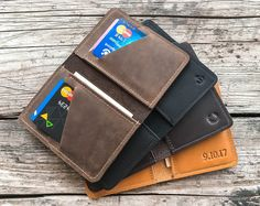 Credit card wallet Personalized leather wallet Mens leather wallet Slim wallet Front Pocket wallet Minimalist wallet Groomsmen gift.