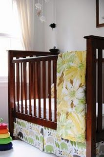 hand-tied quilt from vintage sheets. I love those old sheets that are worn and soft and this would be easy to do!