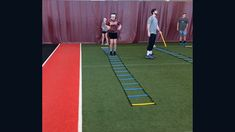 Ladder drills to sprint to work on ground contact time, acceleration and change of direction. Field Hockey Drills, Football Training Drills, Softball Drills, Volleyball Training, Sports Training, Football Drills For Kids, Agility Workouts, Softball Workouts, Agility Ladder Drills