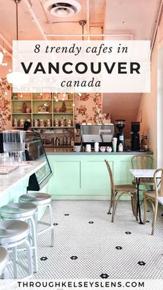 Looking for the best cafes in Vancouver, Canada? Here's my guide to 8 of the most unique and trendy coffee shops and cafes in Vancouver, British Columbia. Canada Vancouver, Vancouver Travel, Vancouver Cafe, Vancouver Shopping, Vancouver Vacation, Vancouver Winter, Vancouver Restaurants, Vancouver Photos, Visit Vancouver
