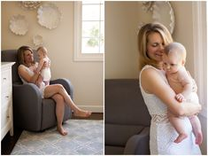 Three Month Old with Mom by Just Maggie Photography - Los Angeles Baby's First Year Photographer