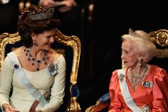 Nobel Prize Giving Ceremonies Take Place In Stockholm 2004 - Queen Silvia and Princess Lillian