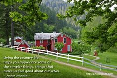 country life quotes | Sayings, Quotes: Author Unknown | Photo Quoto