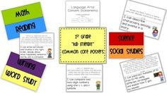 """Are you required to post """"I can"""" statements in your classroom? If so, these will make it very simple for you!"""