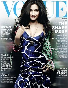 Sonam Kapoor. Vogue India January 2010.