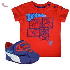 Puma CRIB PACK SUPERMAN 2 Chaussures Mode T shirt Bebe Bleu Rouge PUMA T:17 - Chaussures puma (*Partner-Link)