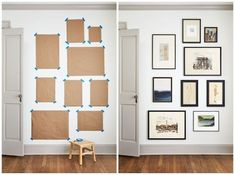 Gaines's Guide to Gallery Walls That Fit Your Home and Style Joanna Gaines Gallery Wall Ideas - Gallery Wall Frames, Art, and Layouts Gallery Wall Layout, Gallery Wall Frames, Wall Frame Layout, Art Frames, Frames Ideas, Wall Decor Frames, Living Room Gallery Wall, Framed Wall Art, Photo Wall Layout