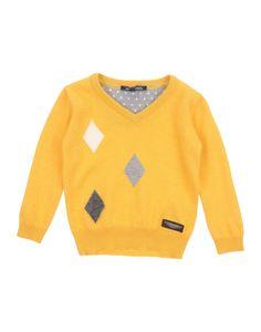 Aston Martin - Baby Boy Wool V-neck Pullover Sweater, Mustard
