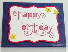 Bright and Cheerful birthday card made with the Age Awareness Photopolymer stamp set from Stampin Up by Kathleen Wingerson     www.kathleenstamps.com
