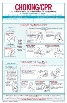 Child Choking First Aid Wall Chart Poster (2013 ARC ...