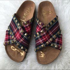 SAM EDELMAN SZ 8 TARTAN SHOES NEW PLAID SANDALS New Sam Edelman Shoes