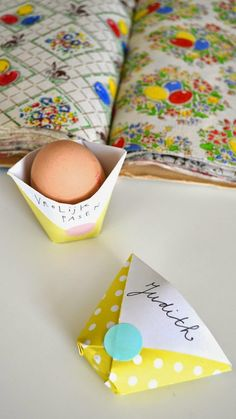 Paper egg thing & an easter bunny.