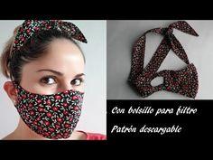 Sewing Patterns Free, Sewing Tutorials, Sewing Projects, Mouth Mask Fashion, Fashion Face Mask, Easy Face Masks, Diy Face Mask, Homemade Face Masks, Crochet Mask