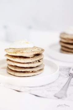 sweet lemon pancakes and galliano whipped cream.