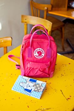 Fjallraven kanken mini pink rucksack in Geneva Guide: Colourful Places to Visit.