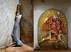 Mahishasurmardini Mandir This shaktipeeth of mata sati is located in birhum district of west bengal and it is believed that devi's portion between the EYEBROWS fell here. The Goddess here is worshiped in her Mahishasurmardini form.