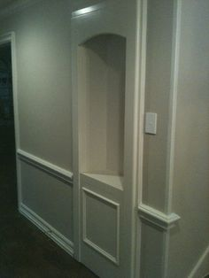 secret door - this is exactly what i was thinking about for the doors to the storage rooms!!!  exactly!