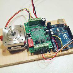 New toys: Nema 17 stepper motor Tb6560 controller and Arduino Uno. #arduino #uno  #arduinouno #steppermotor #diy #tb6560 #nema17 #mechatronics #mechanical #engineering by roccoeduardobattista