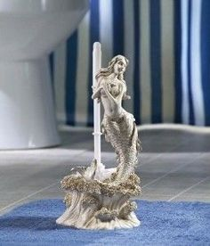 mermaid toilet brush holder