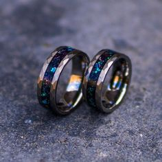 Tungsten galaxy ring,wedding ring, mens wedding band, opal r… – Engagement Rings Wedding Rings Simple, Unique Rings, Guys Wedding Rings, Gold Engagement Rings, Engagement Ring Settings, Solitaire Engagement, Tungsten Mens Rings, Men Rings, Jewelry Rings