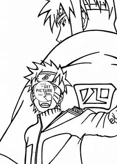 Naruto Uzumaki attack coloring page for kids, manga anime coloring pages printables free - Wuppsy.com