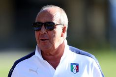 Giampiero Ventura manager of Italy during the training session at Coverciano on October 5, 2016 in Florence, Italy.