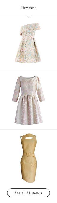 """Dresses"" by ragnh-mjos ❤ liked on Polyvore featuring dress, Antonelli, Halston Heritage, Mansur Gavriel, Billabong, Nak Armstrong, dresses, multi, pink one shoulder dress and metallic dress"