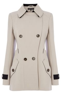 Buy Warehouse Clean Crepe Reefer Coat, Cream from our Women's Coats & Jackets range at John Lewis & Partners. Cream Blazer Outfit, Coat Outfit, Blazer Outfits, Winter Coats Women, Coats For Women, Jackets For Women, Clothes For Women, Military Inspired Fashion, Cute Coats