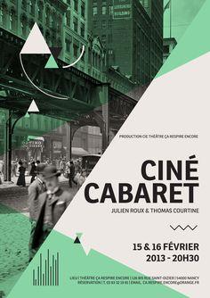 """Design graphique pour un concept de Ciné-Cabaret initié par Julien Roux et Thomas Courtine produit par le théâtre """"ça respire encore"""" à Nancy. Création et déclinaison de visuels traduisant la jonction d'un art passé (le cinéma muet) et d'une performance m…"""