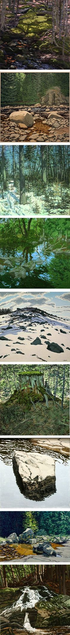 Just discovered Maine artist Neil Welliver. Beautiful, large-scale work. Wish I could find an affordable print or poster. Mostly landscapes, but really vibrant.