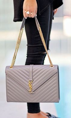 How To Rock A Saint Laurent Bag by Stephanie STERJOVSKI <~ I don't like Anything Burkinstock-y but these remind me of old school chanklas like Hispanic grandparents used to wear! Luxury Bags, Luxury Handbags, Fashion Handbags, Purses And Handbags, Fashion Bags, Ysl Handbags, Beautiful Handbags, Beautiful Bags, Sac Yves Saint Laurent