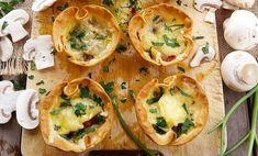 Les receptes que m'agraden: Aperitivo de fiesta:Tartaletas rellenas de champiñones a la crema y queso...¡Mucho queso!