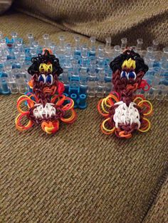 Rainbow loom thanksgiving turkey by LOTSOLOOM on Etsy, $5.00