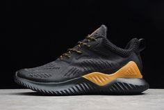 3e79fb6df2dd8 adidas AlphaBounce Beyond M Black Yellow Running Shoes B43685