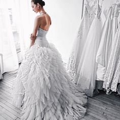 Tie the knot on your magical day in #TrulyZacPosen #bridal #Gown #weddingdress #sayido at @davidsbridal
