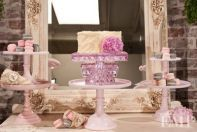 "10"" pink square glass cake stand-adorable"