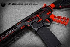 Happy Valentine's Day! MAD Black and Red on an @f1firearms build with a @tactical_dynamics_llc grip.  #cerakoteMADness #red #valentines #MADBlack #cerakote #USA #America