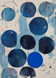 blue circles indigo